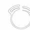 collier de serrage en nylon / verrouillage à dents à double mâchoire / à bande