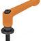 manette indexable en acier / en zamak / avec bouchon de protection / réglable