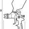 pistolet pulvérisateur / à peinture / manuel / avec godet gravité