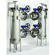 filtre à liquide / à panier / à lavage en continu / duplex