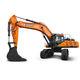 pelleteuse lourde / sur chenilles / diesel / pour chantier de construction