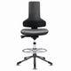 chaise pivotante pour salle blanche / ergonomique / avec marche-pied / antistatique