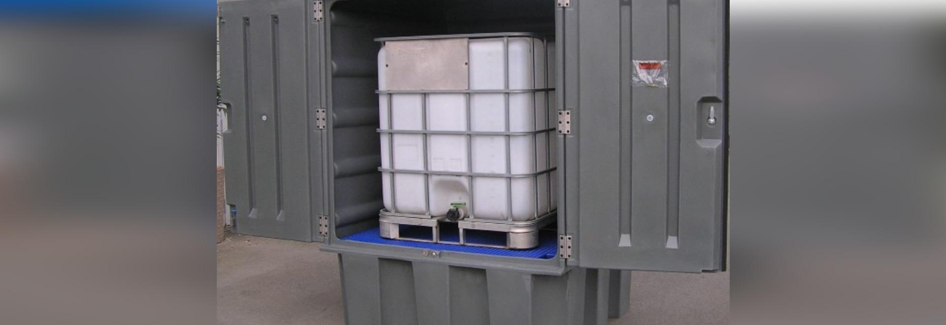 Abris de stockage pour cubitainer 1000 litres