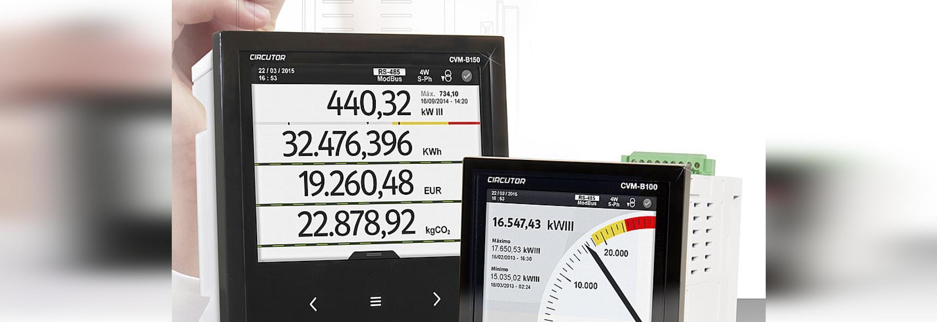 Analyseurs de réseaux pour panneau, CVM-B100, CVM-B150