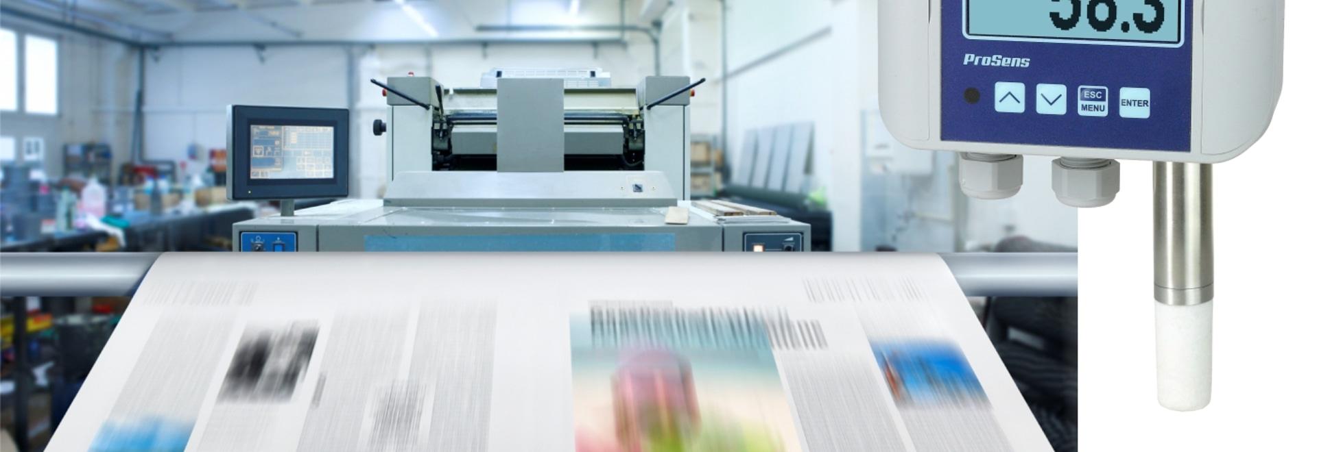 Application #10 : Surveillance de la température et de l'humidité avec ProSens dans l'imprimerie