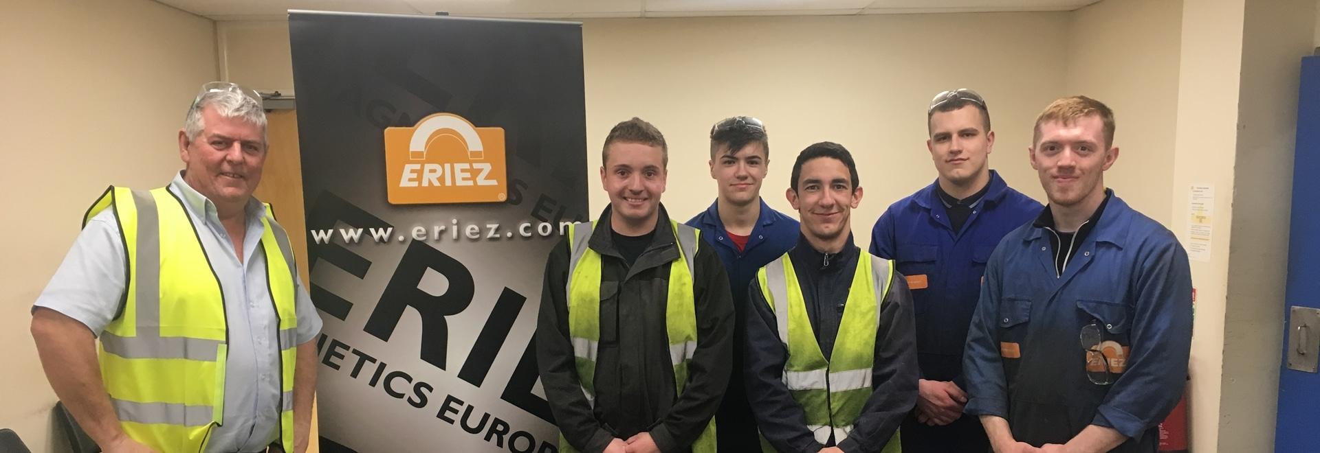 Apprentis français à Eriez