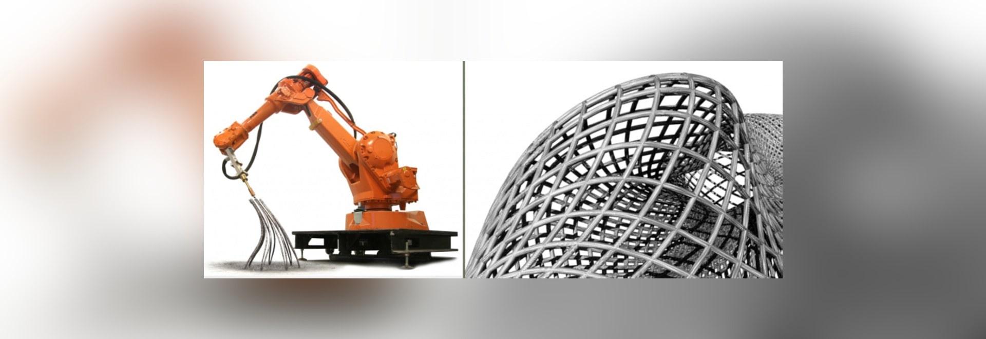 le BRAS ROBOTIQUE de l'IMPRESSION 3D CRÉE les STRUCTURES LIBRES EN MÉTAL