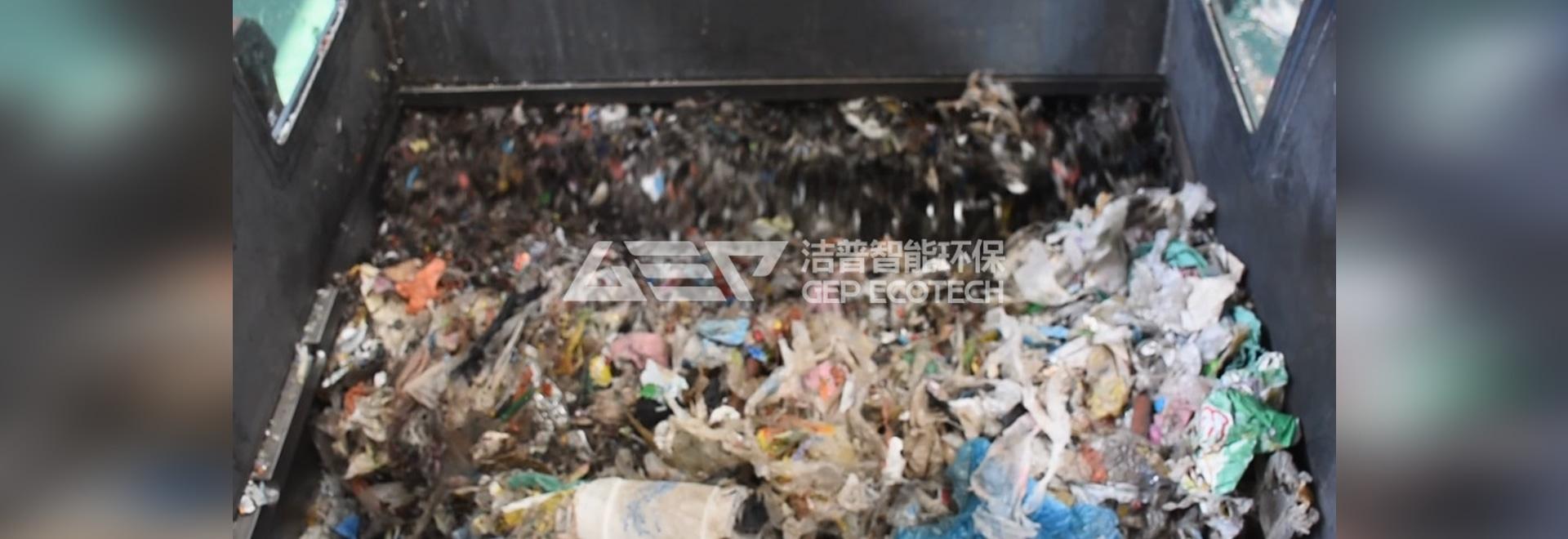 Le broyeur-broyeur pour les déchets solides brise le goulot d'étranglement de la classification des ordures ménagères