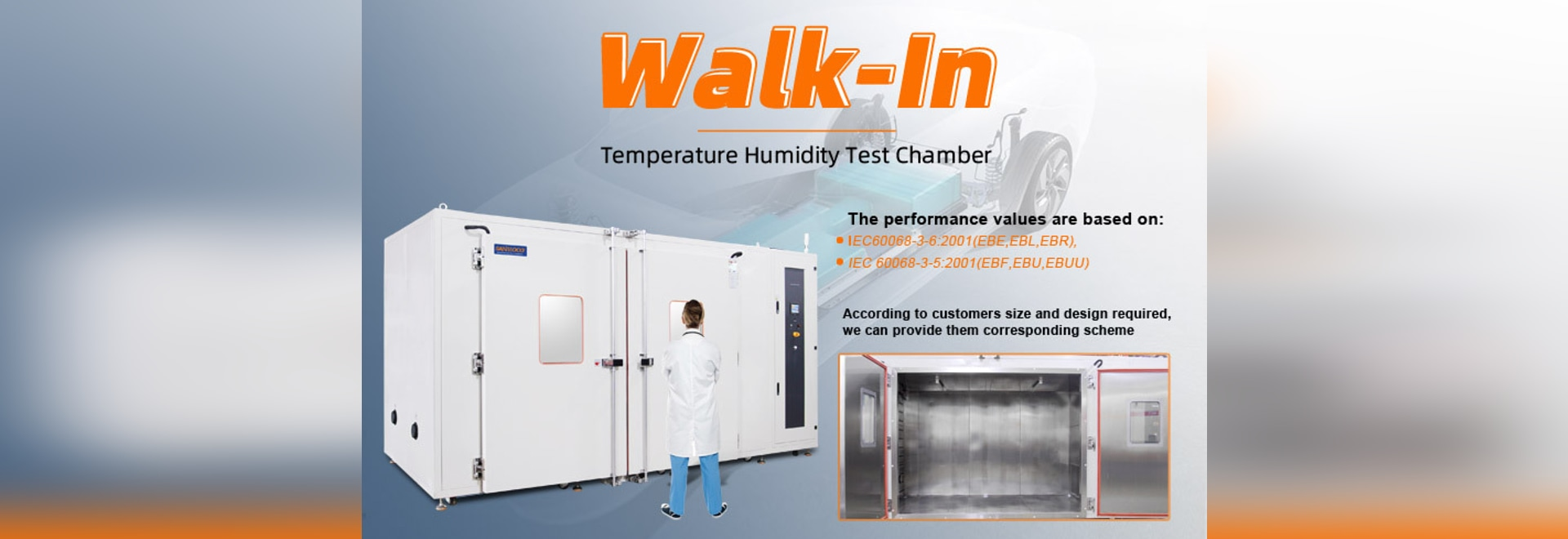 Chambre d'essai de température standard/custom walk-in type Sanwood
