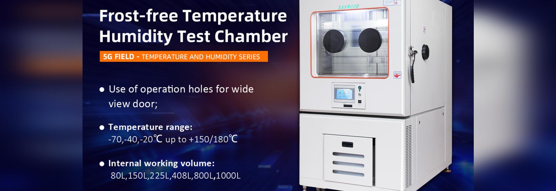 Chambre haute et basse température sans givre fonctionnant en ligne
