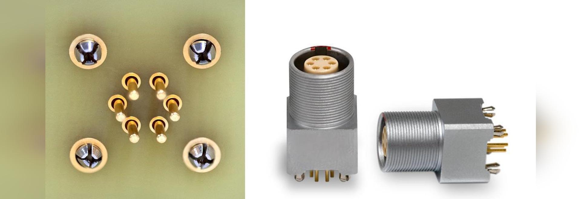 Contacts à presser pour les prises coudées et droites de circuits imprimés