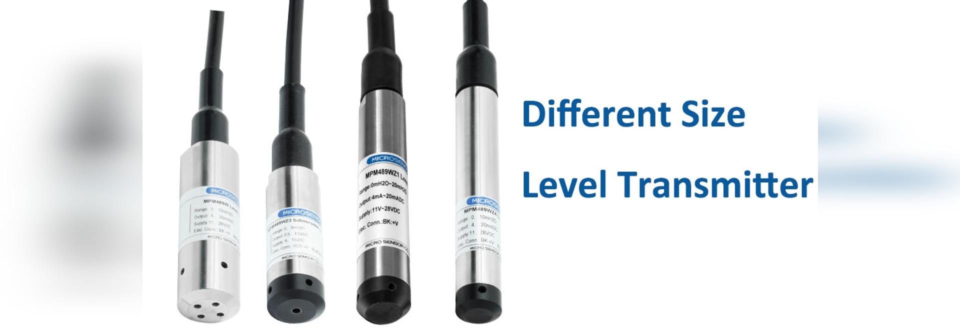 Émetteurs de niveau avec différents diamètres
