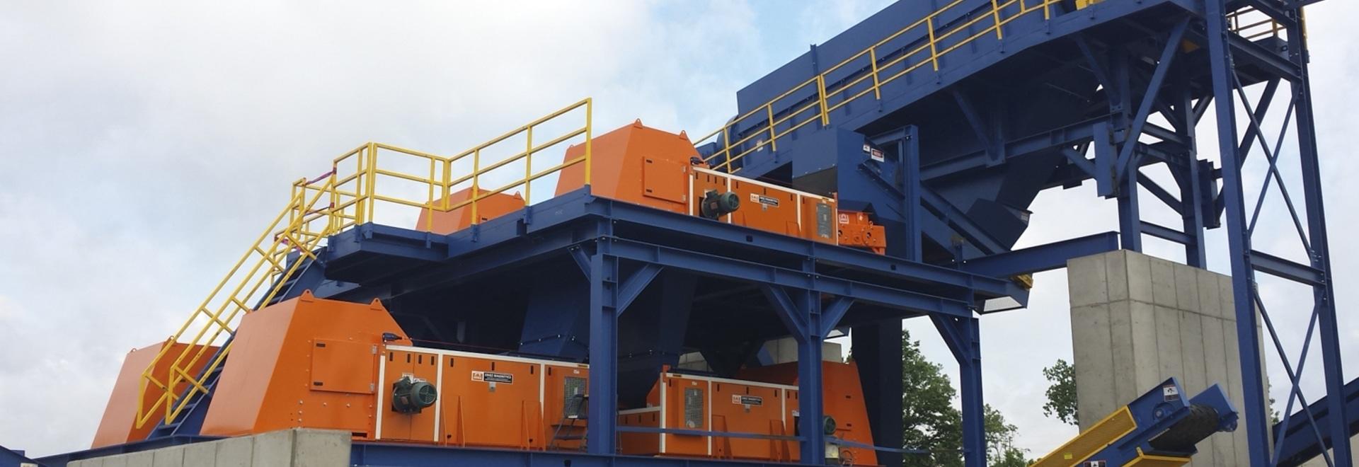 Installation du système de récupération des métaux non ferreux RCS