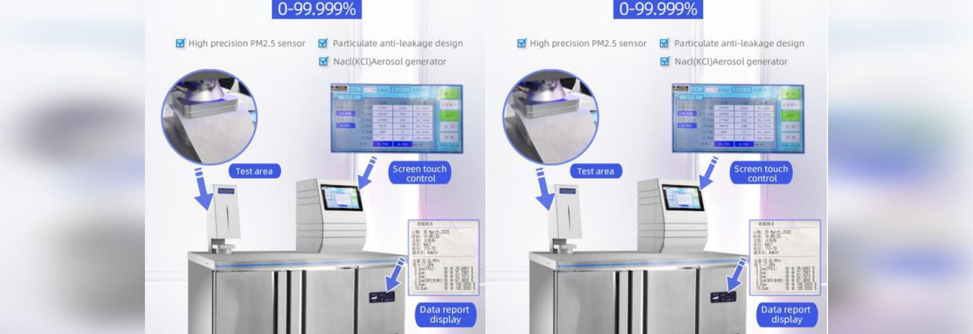 Masque Testeur d'efficacité de filtration des particules (PFE)