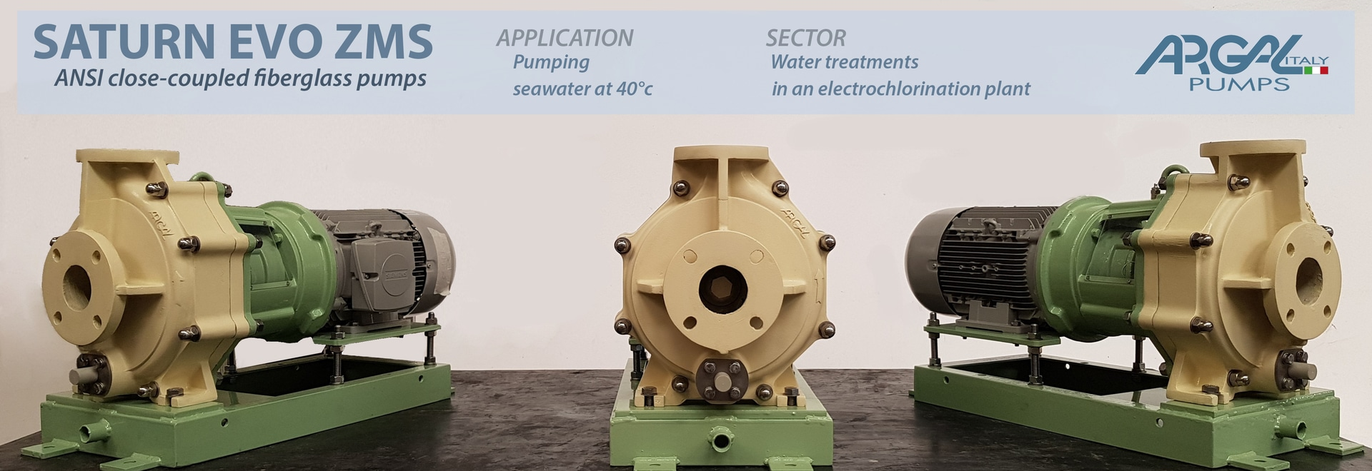 La norme ANSI FRP de Saturn Evo pompe pour l'eau de mer à une usine d'electrochlorination