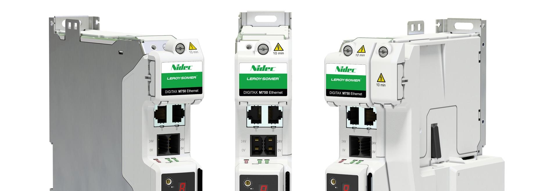 Le nouveau servovariateur Digitax HD M750 de Nidec Leroy-Somer élargit les possibilités de contrôle des réseaux Ethernet