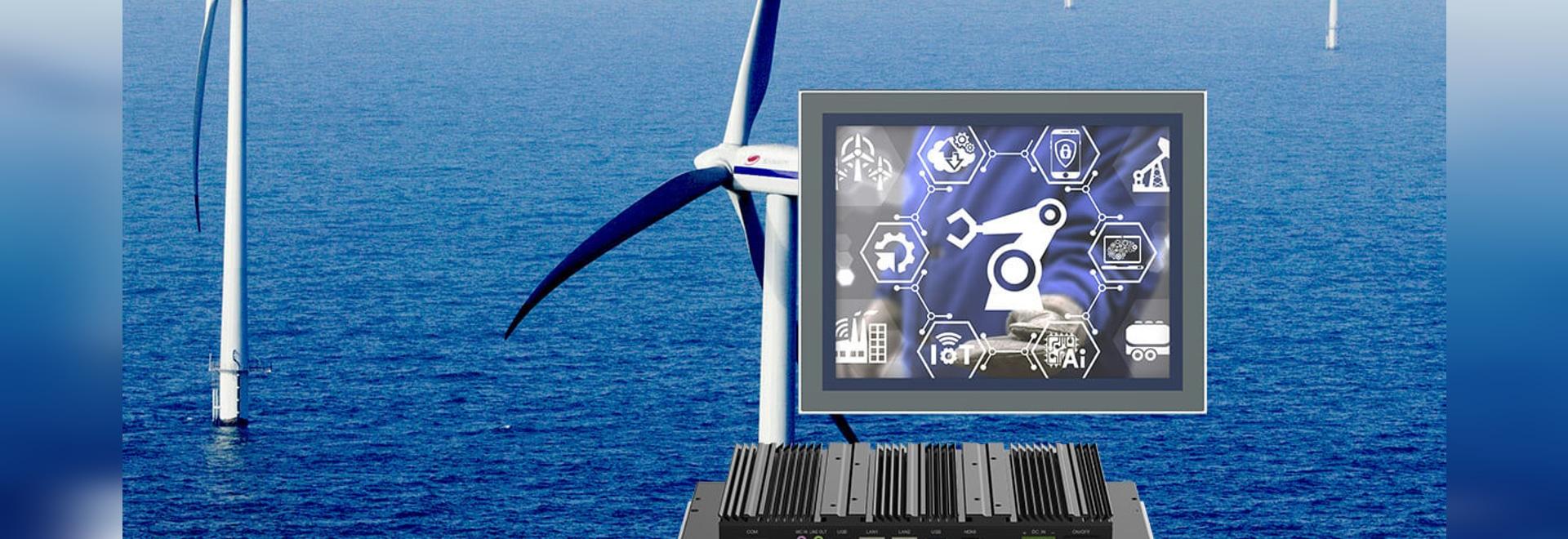 Panel PC industriel pour l'application de production d'énergie éolienne