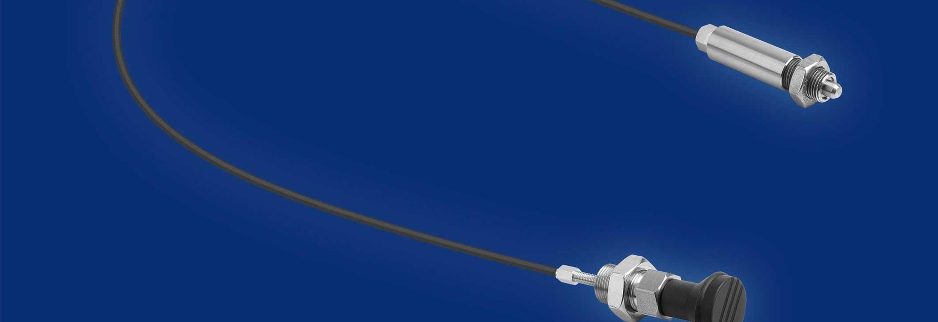 Piston d'indexation KIPP avec câble Bowden