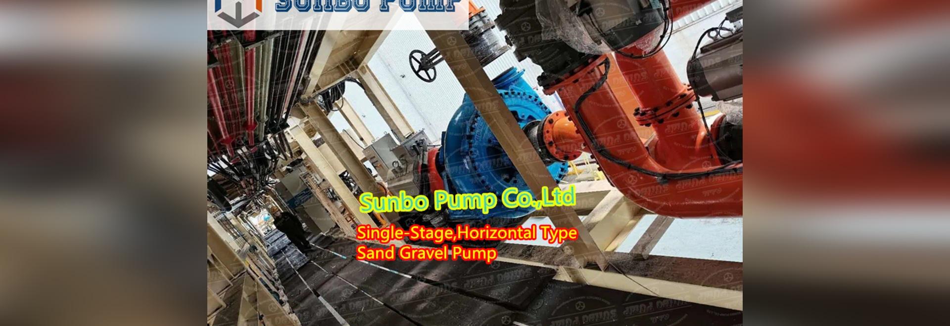Pompe à boue de sable à carter unique