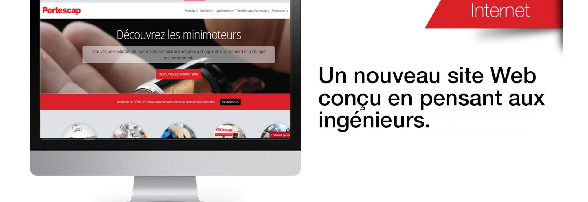 Portescap étend son soutien aux marchés francophones avec un nouveau site Internet