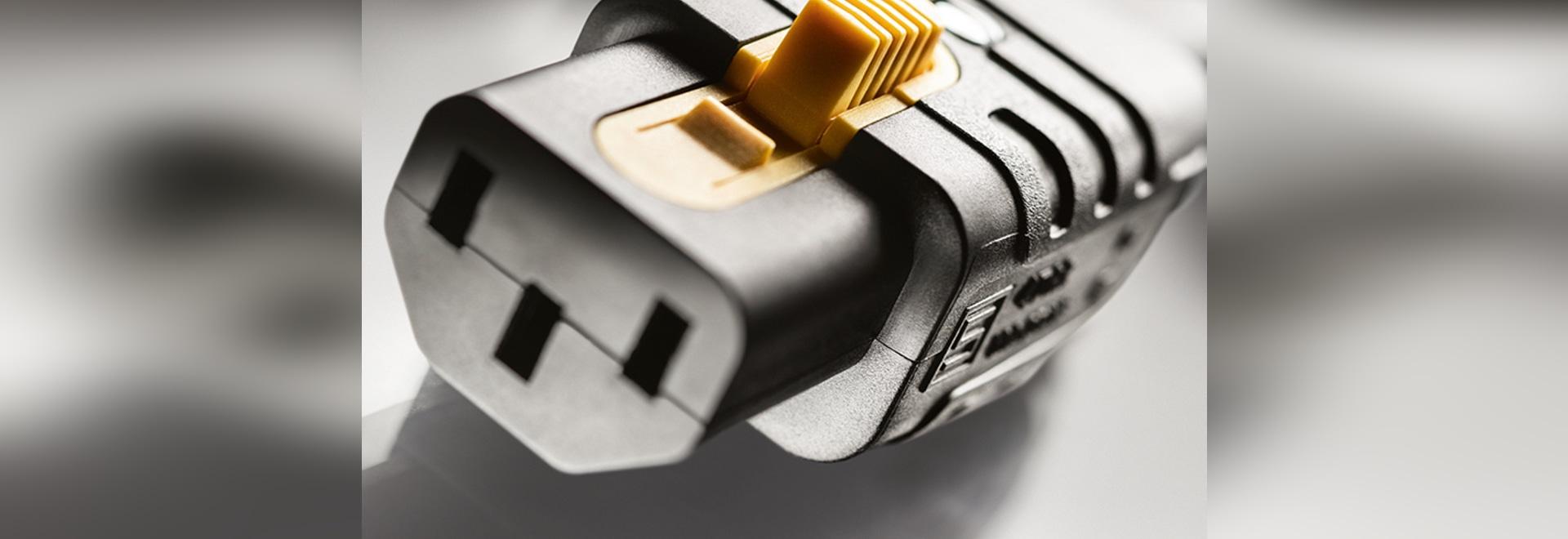 Première entrée d'appareil CEI re-câblée avec V-Lock