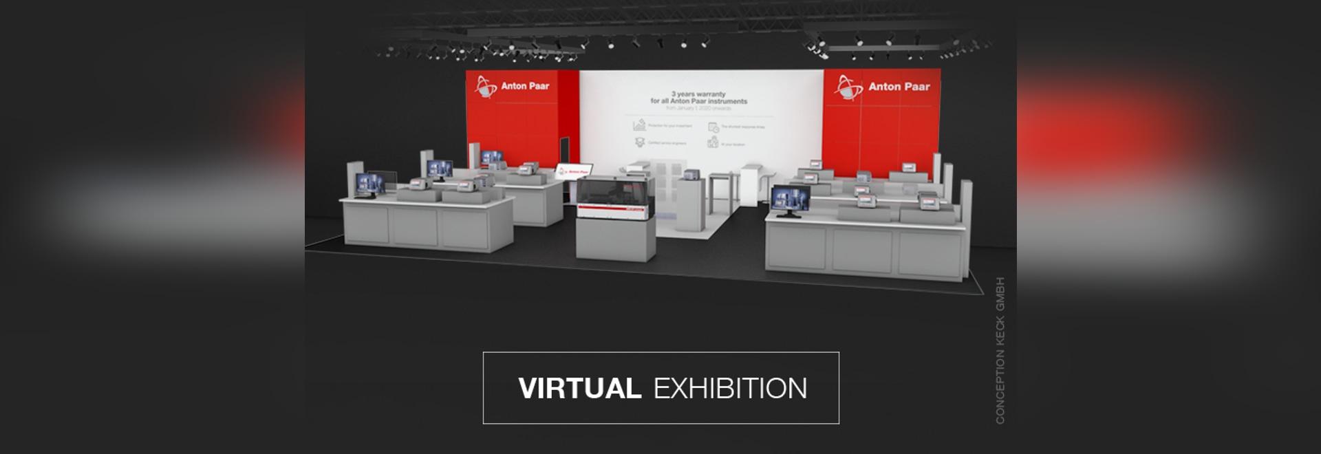 Stand de l'exposition virtuelle d'Anton Paar