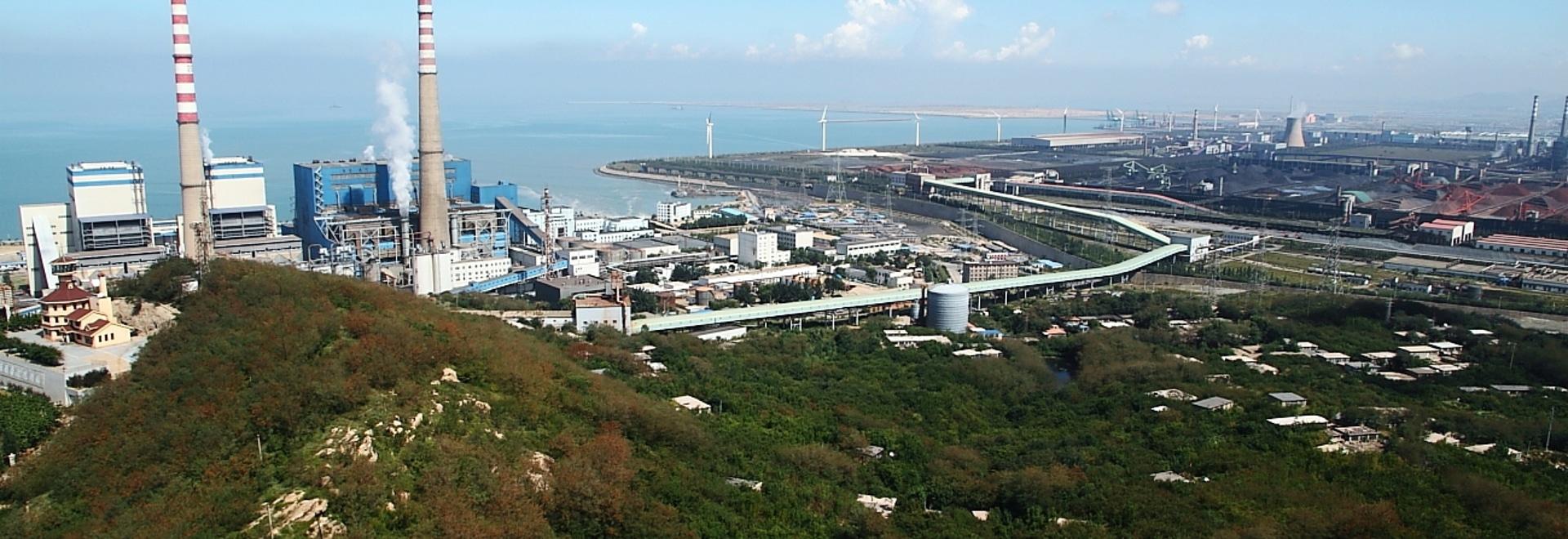Le système de refroidissement fermé d'eau en circulation dans la seconde étape de la centrale de Huaneng Jinggangshan