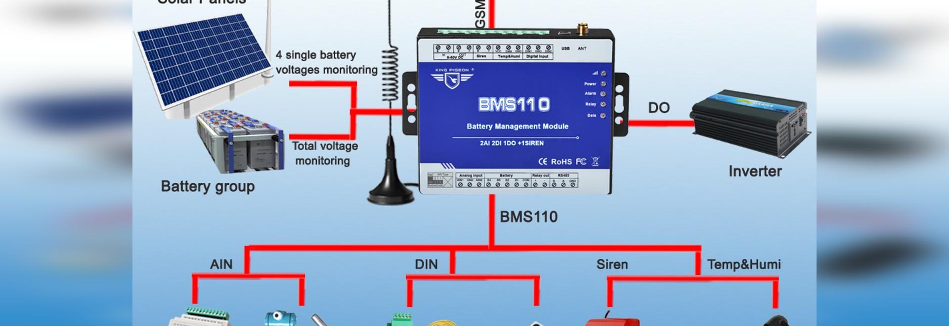 Système de surveillance des petits bancs de piles de King Pigeon BMS110