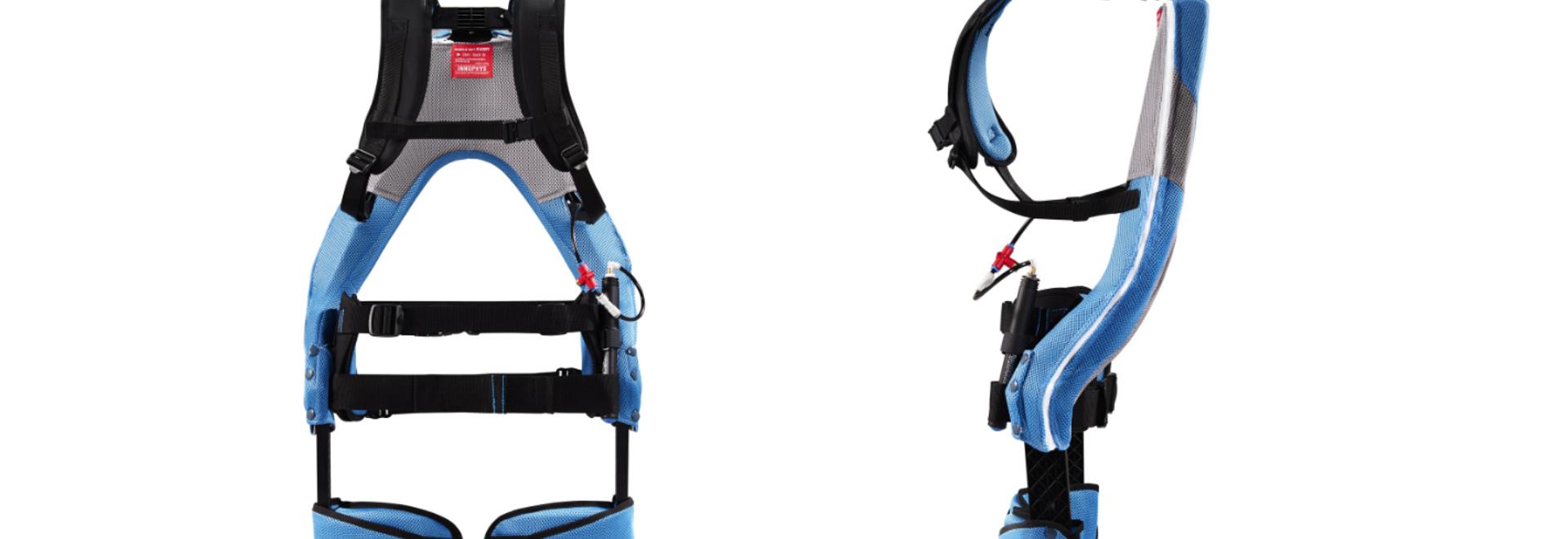 Le système utilise des muscles artificiels pneumatiques (PAM) : un muscle artificiel de type McKibben utilisant de l'air comprimé pour fournir à l'utilisateur une puissance d'assistance pouvant att...