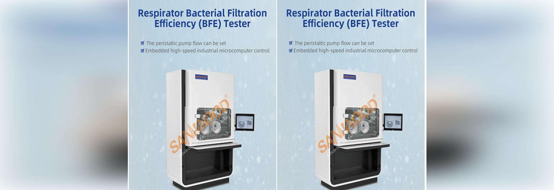Testeur de l'efficacité de la filtration bactérienne des appareils respiratoires (BFE)