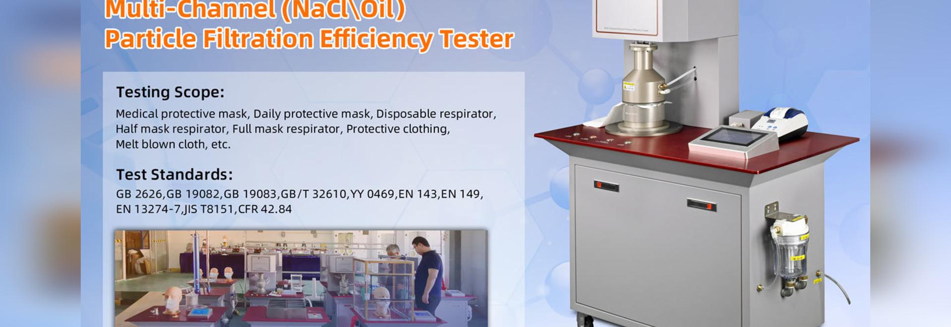 Testeur d'efficacité de filtration de particules multi-canaux 2.0
