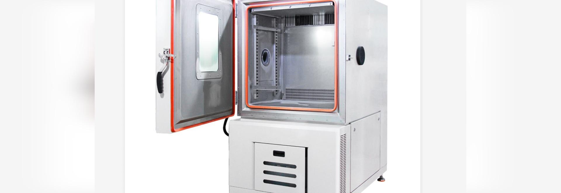 Vue d'ouverture de la chambre d'essai de température et d'humidité