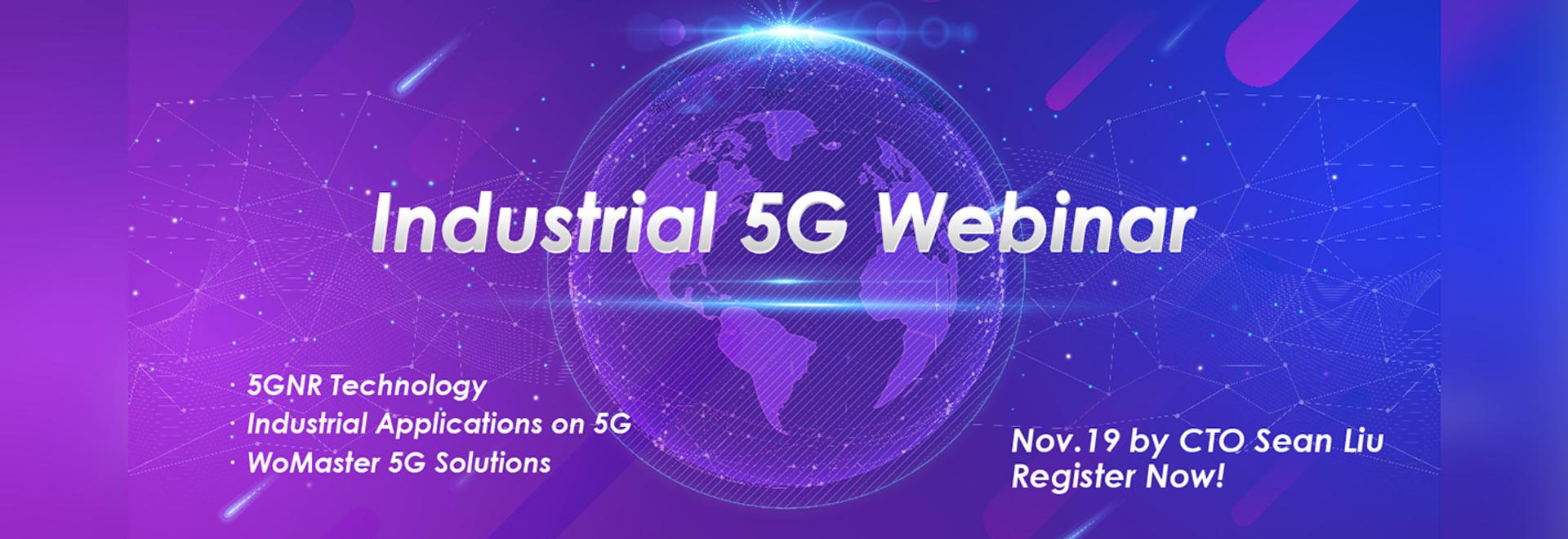 WoMaster vous invite au webinaire d'Industrial 5G