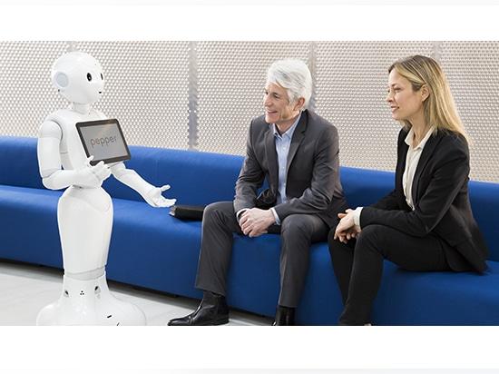 Pepper, gracieuseté de SoftBank Robotics