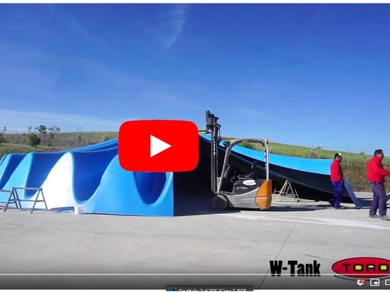 W-Tank®, test d'ajustement de la couverture hypar