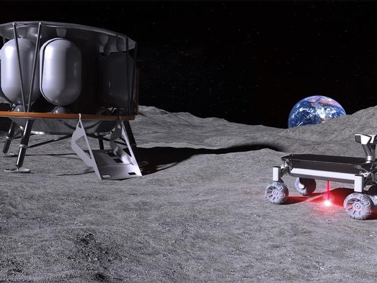 Laser pour faire fondre la poussière de lune pour la fabrication d'additifs dans l'espace