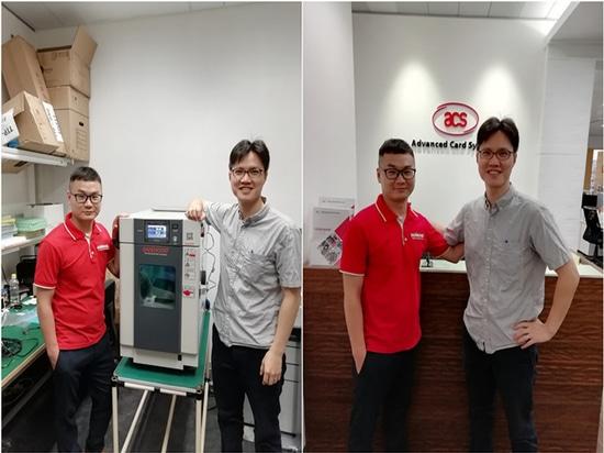 L'ingénieur Sanwood a terminé l'installation, la mise en service et la formation à l'utilisation de l'enceinte d'essais climatiques Benchtop pour notre client HK.