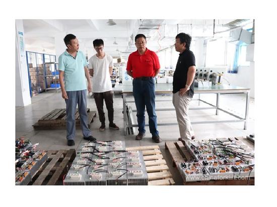 Le directeur général adjoint de China Forklift Network a visité notre usine