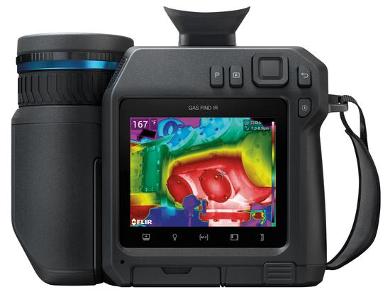 Caméra de détection de méthane abordable pour les professionnels de l'inspection du gaz
