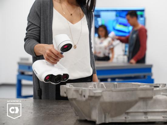 Creaform ajoute le scanner 3D ACADEMIA 50 à sa suite de solutions didactiques