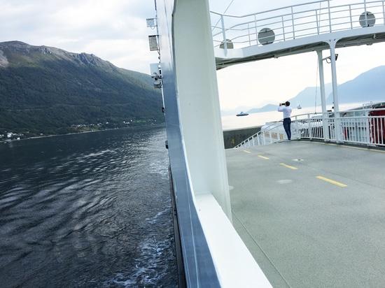 Avec le ferry électrique pour Molde