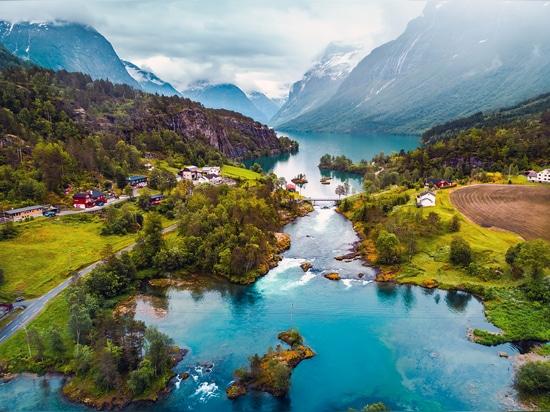 Paysage exceptionnel en Norvège