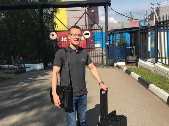 Stanislav Biryukov en visite chez les clients
