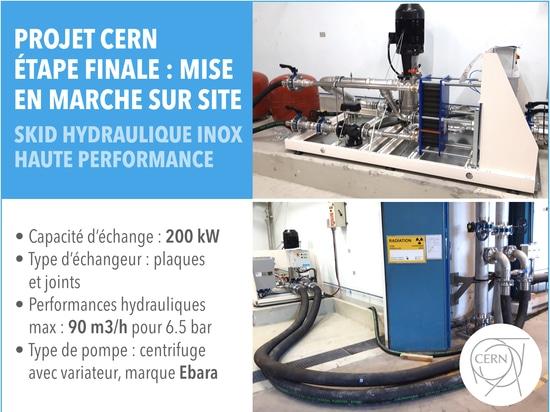 EURODIFROID x CERN // Skid hydraulique haute performance