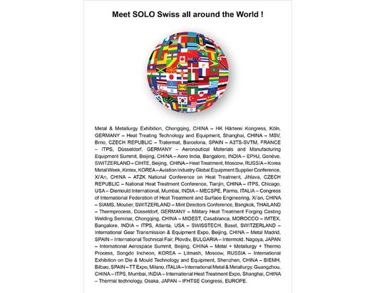 Vous pouvez rencontrer SOLO Swiss presque partout dans le monde !