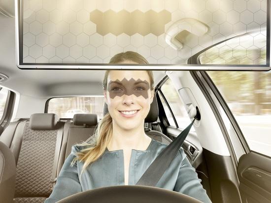 La visière virtuelle Bosch bloque dynamiquement le soleil de vos yeux