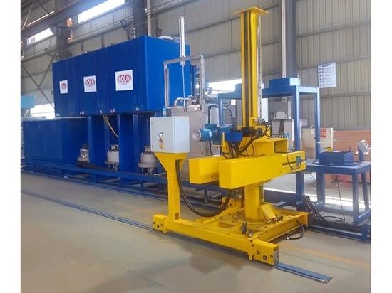 Livraison d'une ligne de traitement thermique SOLO Swiss type Profitherm P150 pour l'industrie aéronautique en Chine. Traitements : Trempe - Cémentation - Carbonitruration - Revenu.