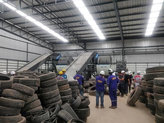 Usines de recyclage de pneus usagés, broyage et pyrolyse de pneus usagés en Asie du Sud-Est