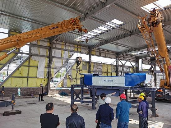 Site d'installation du district de Guancheng, centre de tri des déchets domestiques de Zhengzhou