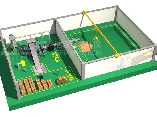 GEP Système de broyage et de tri de la biomasse pour la production d'électricité